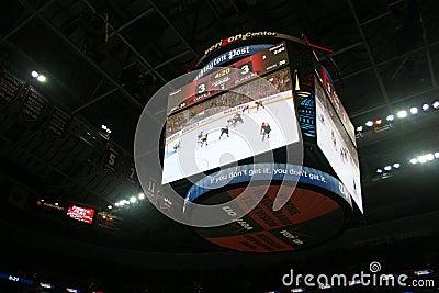 Scoreboard - Verizon Center Editorial Stock Photo