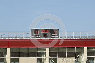 Scoreboard with zeros