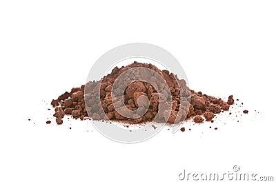 Scoria écrasé, également appelé la roche de lave
