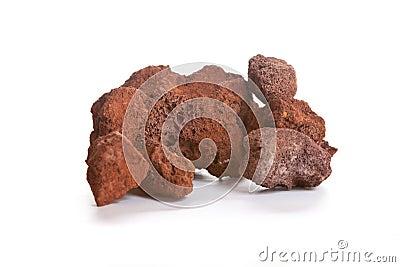 Scoriaen som kallas också lava, vaggar