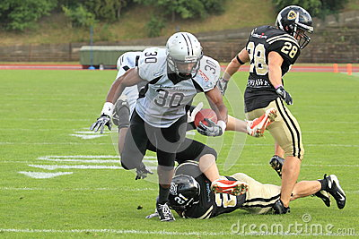 Scoring Andy White in american football Editorial Stock Photo