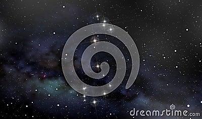 Scorpion constellation in the night sky