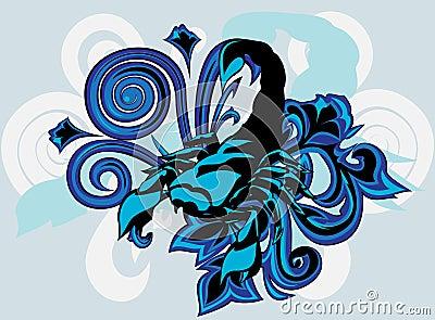 Scorpion with  pattern