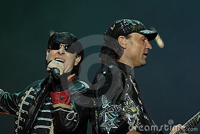 Scorpions, Poland, Gdansk june 4 2009 Editorial Stock Image
