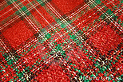 Scotch red fabric