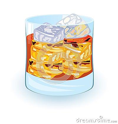 Scotch on rocks