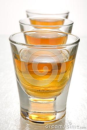Scotch in shot glasses