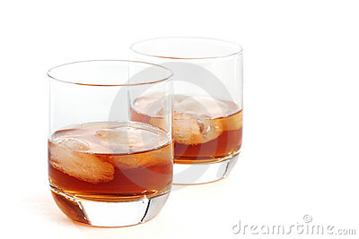 Scotch whiskey and ice
