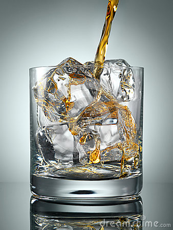 Scotch Whisky in Glass with perfect ice
