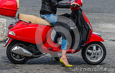 Scoter and Woman