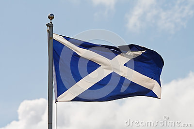 Scotland flag on flagpole