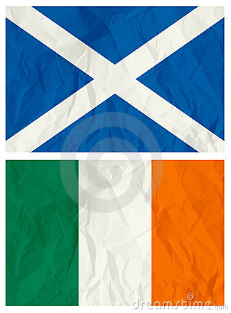Scotland and Ireland flag