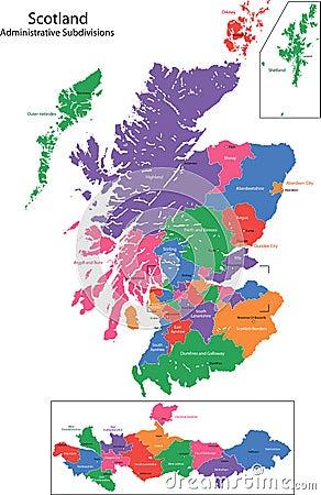 Free Scotland Map Royalty Free Stock Image - 18779426