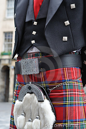 Scotsman in traditional dress