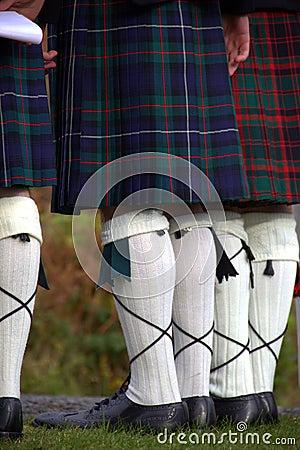 Scotsmen in kilts