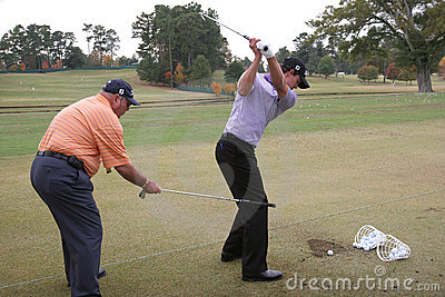 Scott and Harmon, Tour Championship, Atlanta, 2006 Editorial Stock Photo