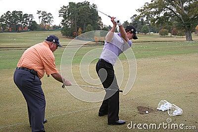 Scott and Harmon, Tour Championship, Atlanta, 2006 Editorial Stock Photo
