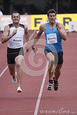 Scott McLaren and Kyle McCarthy at decathlon Editorial Photo