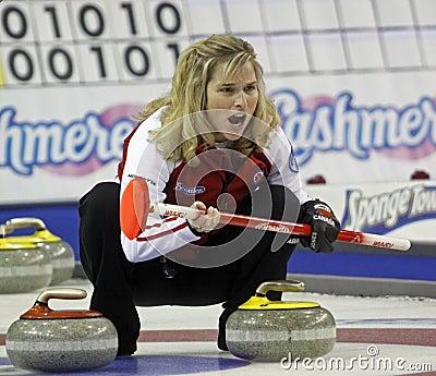 Scotties curling jennifer jones yells Editorial Photography