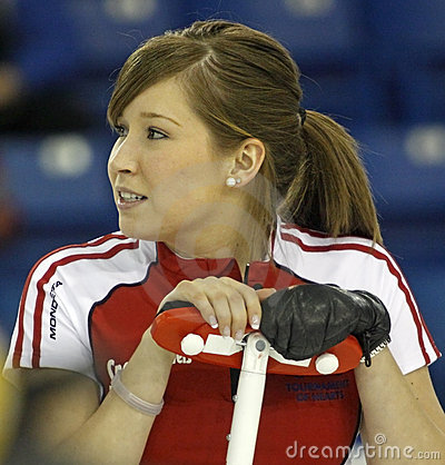 Scotties curling lawes broom Editorial Stock Photo
