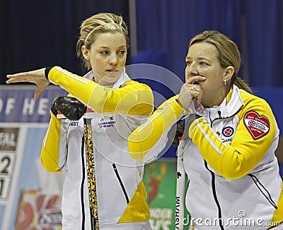 Scotties curling meakin overton-clapham Editorial Stock Image