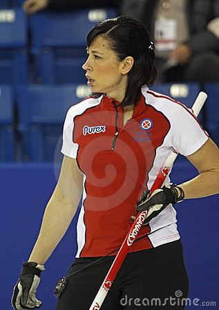 Scotties curling officer Editorial Stock Image