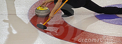 Scotties curling shadows Editorial Stock Photo