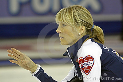 Scotties curling smith-dacey hand Editorial Photo