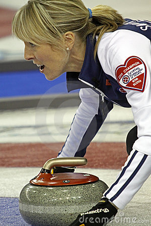 Scotties curling smith-dacey rock Editorial Photography