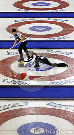 Scotties curling smith-dacey sheets Editorial Photo