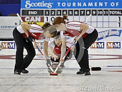 Scotties curling sweep Editorial Photo