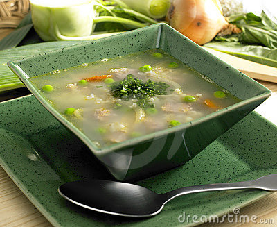 Scottish barley soup