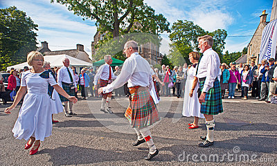 Scottish country dancing Editorial Stock Photo
