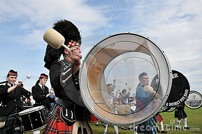 Scottish drummer at Nairn Highland Games Editorial Photography