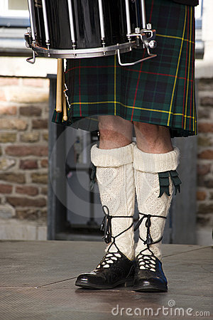 Free Scottish Drummers Legs Stock Images - 10918624