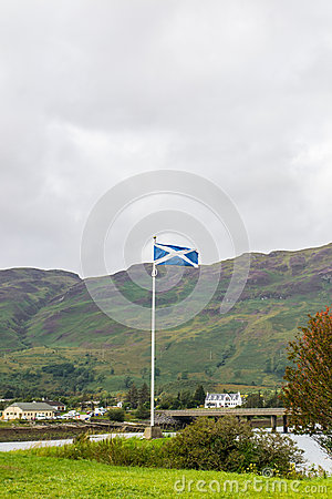 Scottish Flag on Skye Island