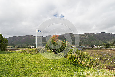 Scottish Flag on Skye Island