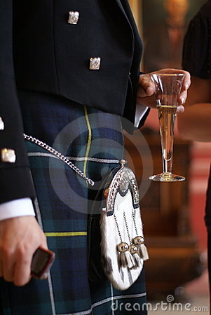 Scottish groom in a Kilt Editorial Stock Image