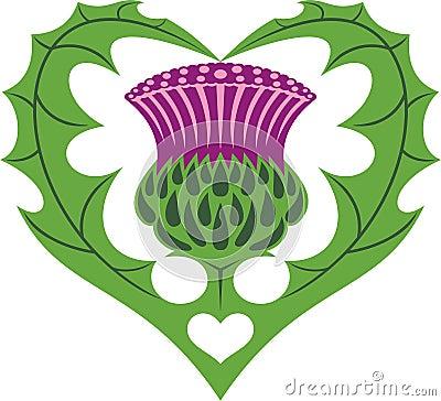 Free Scottish Heart & Thistle Tattoo Royalty Free Stock Image - 31514156