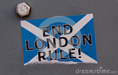 Scottish independence: End London rule sticker