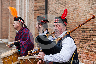 Scottish Musical Band Editorial Image