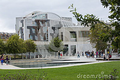 Scottish Parliament building, Edinburgh Editorial Image