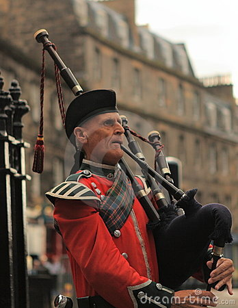 Scottish piper Editorial Stock Photo