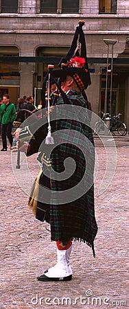 Scottish piper in Amsterdam