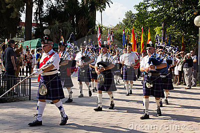 Scottish Pipers Royalty Free Stock Images - Image: 22611549