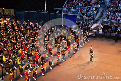 Scottish Pipes at Edinburgh Military Tattoo Editorial Stock Photo