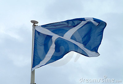 Scottish Saltire Flag In Motion