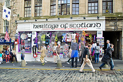 Scottish souvenir shop Editorial Photography