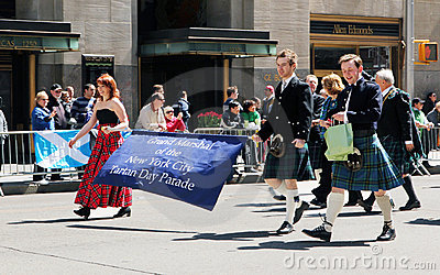 Scottish tartan day parade Editorial Image