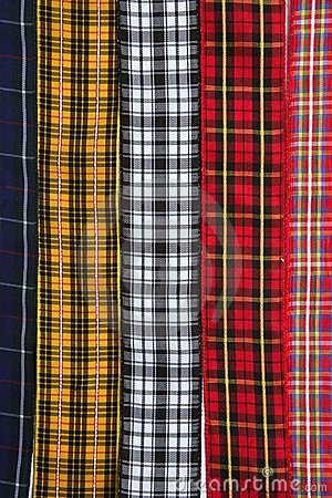 Scottish tartan fabric tapes pattern background